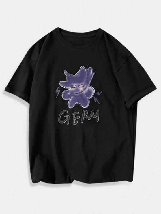 Germ Graphic Basic T Shirt - أسود XS