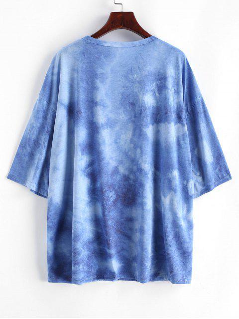 vom 11. bis zum 20. Holz Tischnummer Mond Buchstabe Druck Übergroßes T-Shirt - Blau L Mobile