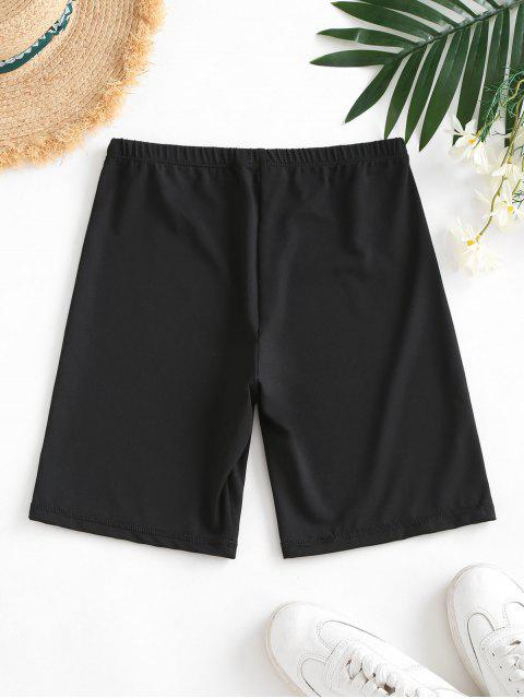 shops High Waisted Stretchy Biker Shorts - BLACK S Mobile