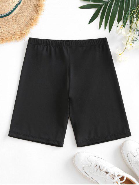 shops High Waisted Stretchy Biker Shorts - BLACK L Mobile
