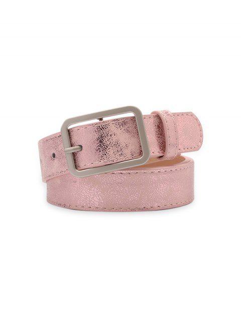 ladies Rectangle Pin Buckle Waist Belt - LIGHT PINK  Mobile