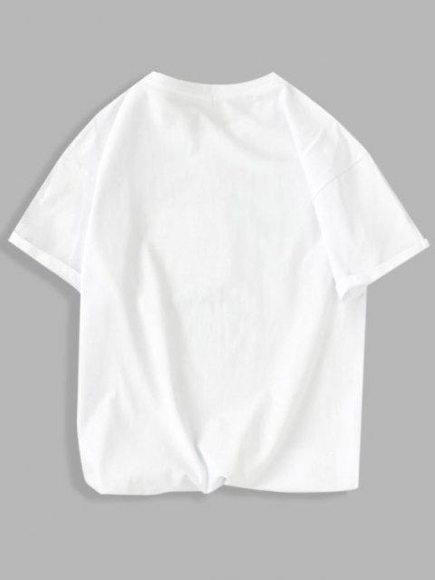 hot Germ Graphic Basic T Shirt - WHITE XS Mobile