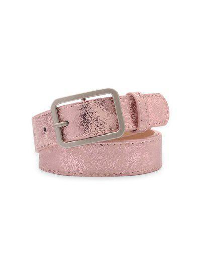 Cinto De Cintura De Retângulo Com Fivela E Pino - Luz Rosa