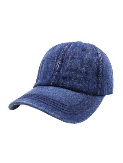 Leisure Denim Color Baseball Cap - Blue