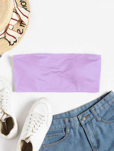 ZAFUL Padded Crop Tube Top - Mauve M