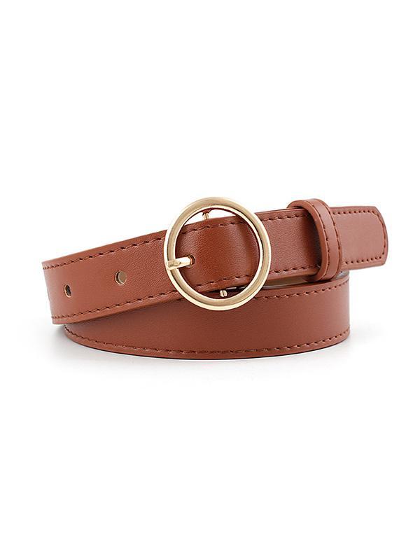 PU Round Buckle Belt