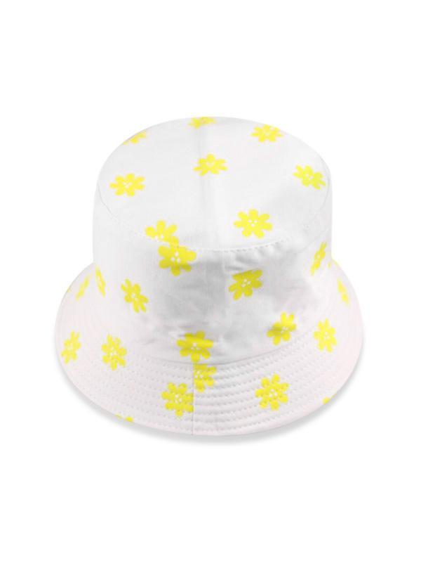Daisy Printed Sunproof Bucket Hat