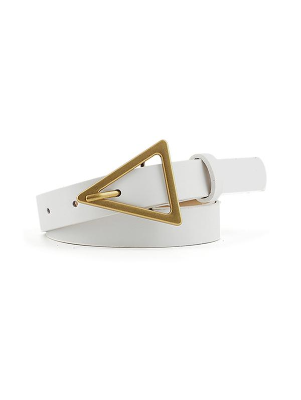 Triangle Buckle Dress Belt