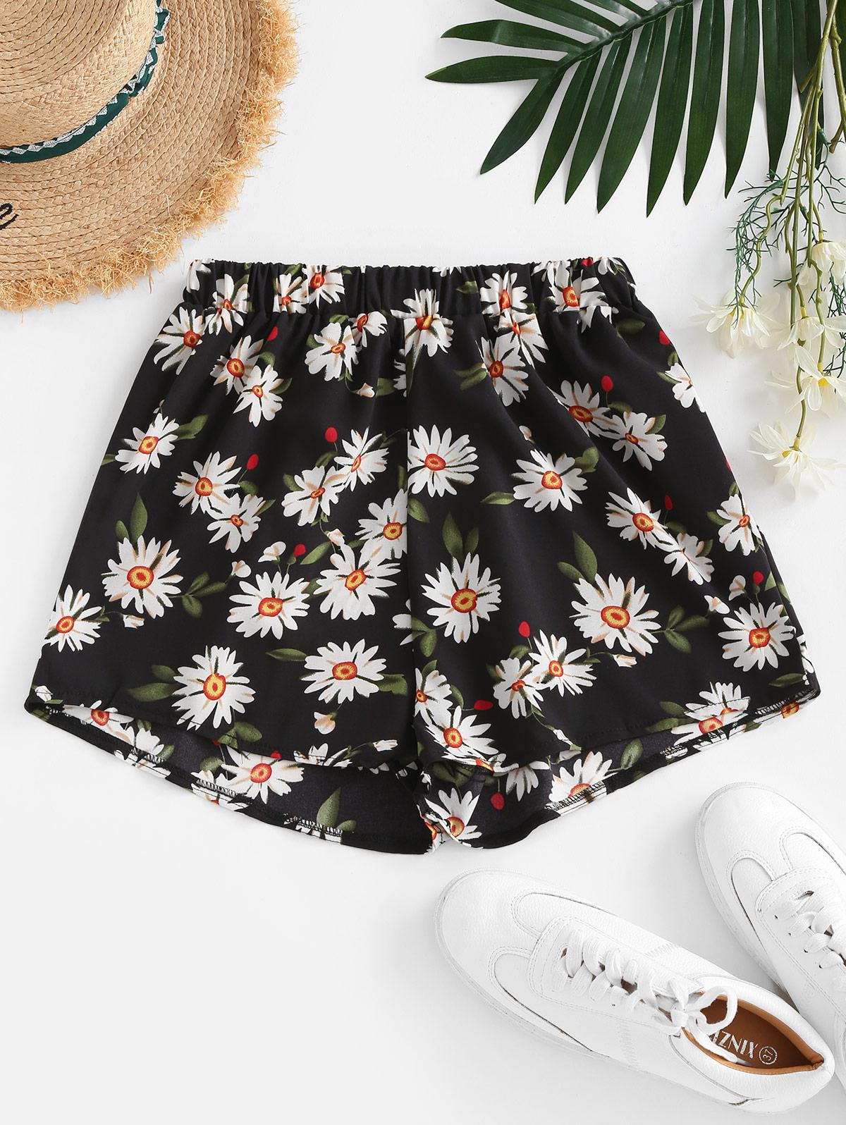 Daisy Floral Casual Shorts