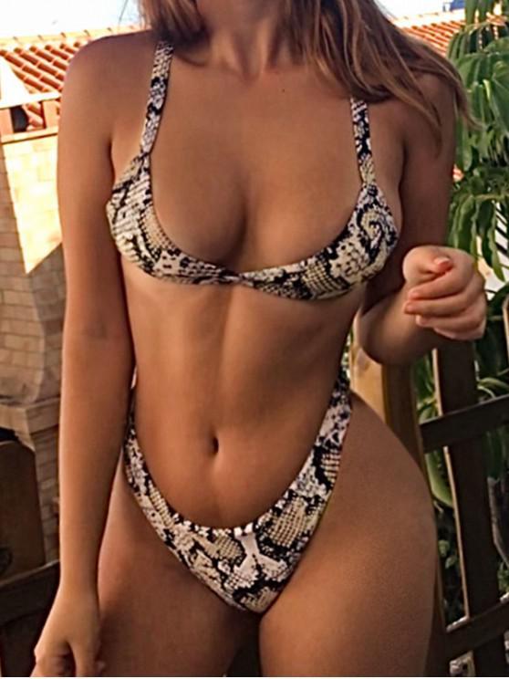 Bikini Con Stampa Effetto Serpente Di ZAFUL - Oro d'arancio L