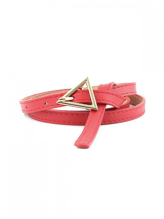 new Triangle Pin Buckle Thin Belt - RED