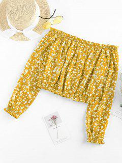 ZAFUL Bluse Mit Ditsydruck - Gelb S