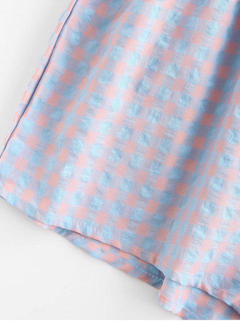 Mono Femenino de Pierna Ancha con Cinturón con Bolsillo - Azul claro S Mobile