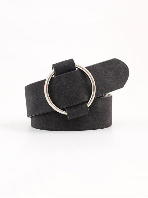 sale Circle No Pin Buckle Belt - BLACK  Mobile