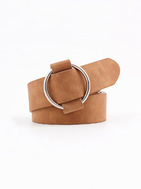 lady Circle No Pin Buckle Belt - LIGHT COFFEE  Mobile