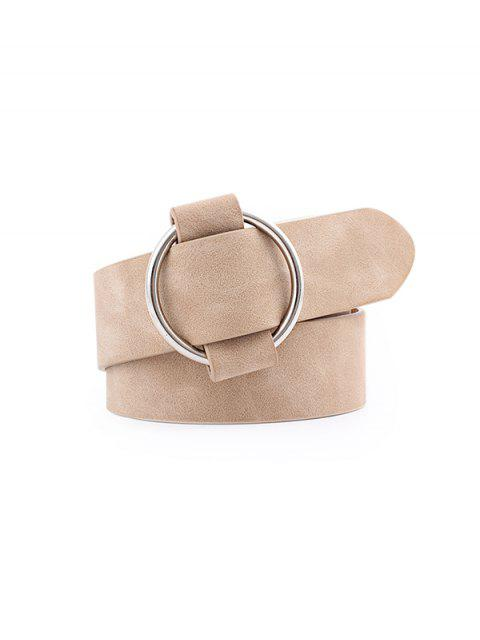 unique Circle No Pin Buckle Belt - BEIGE  Mobile