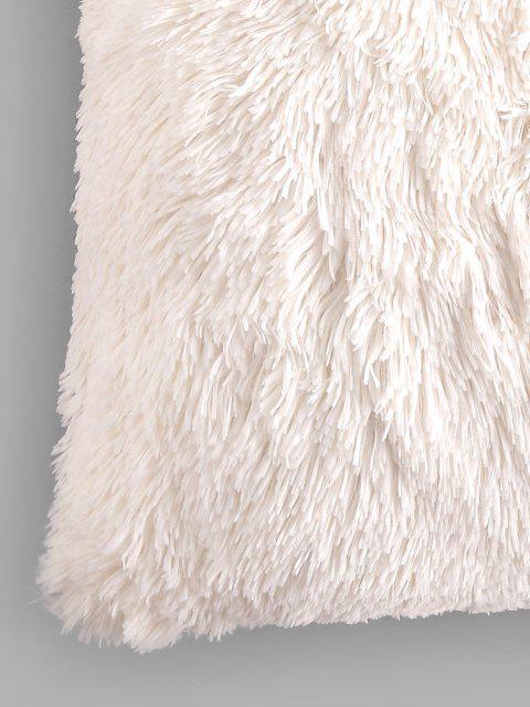 chic Square Plush Throw Pillowcase - WHITE W18 X L18 INCH Mobile
