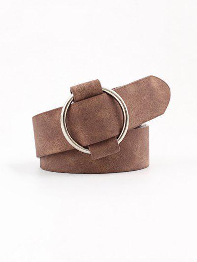Cinturón de Hebilla Casual Cuero PU