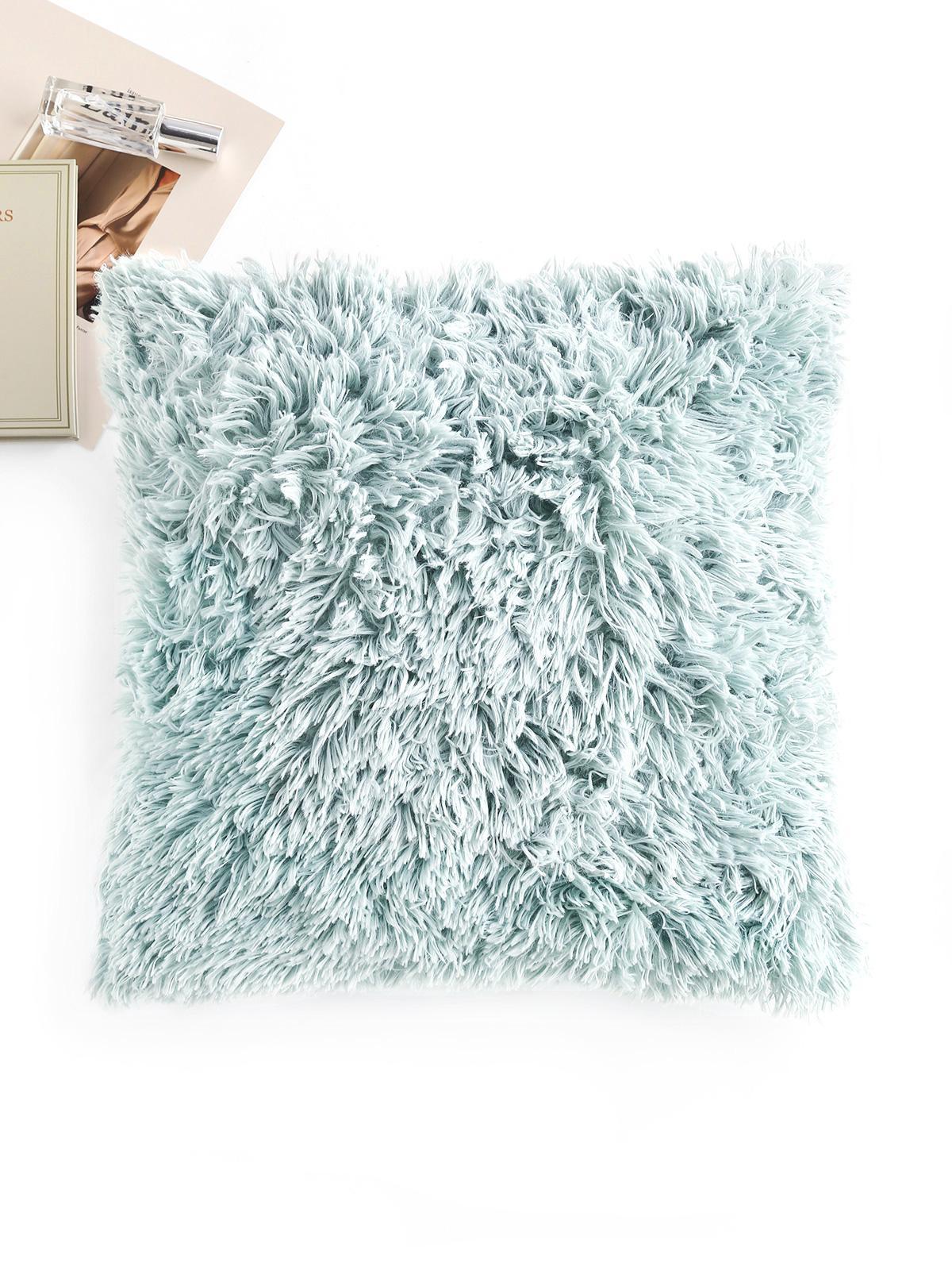 Square Plush Throw Pillowcase