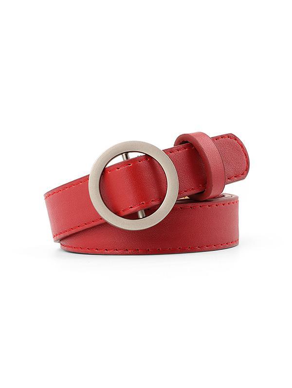 Brief Round Buckle Waist Belt