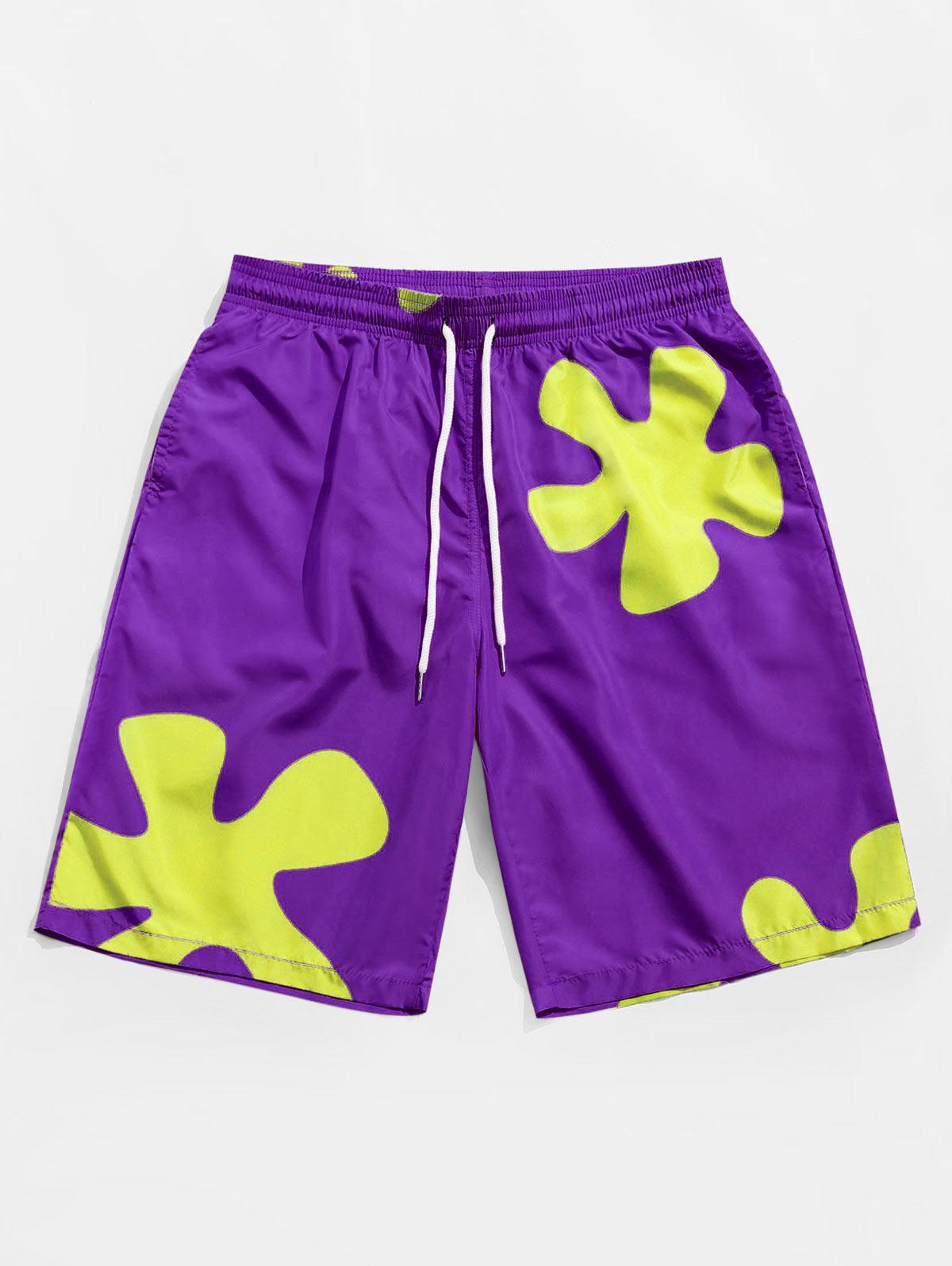 Zaful Floral Pattern Board Shorts