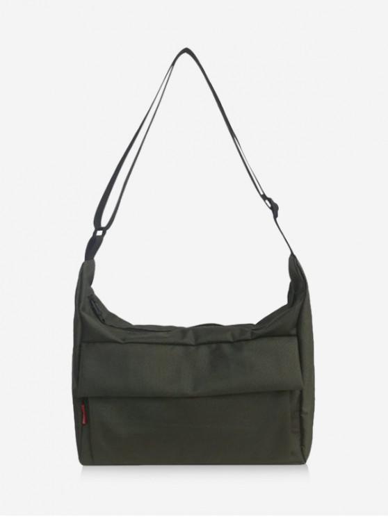 Leisure Solid Crossbody Bag - الجيش الأخضر