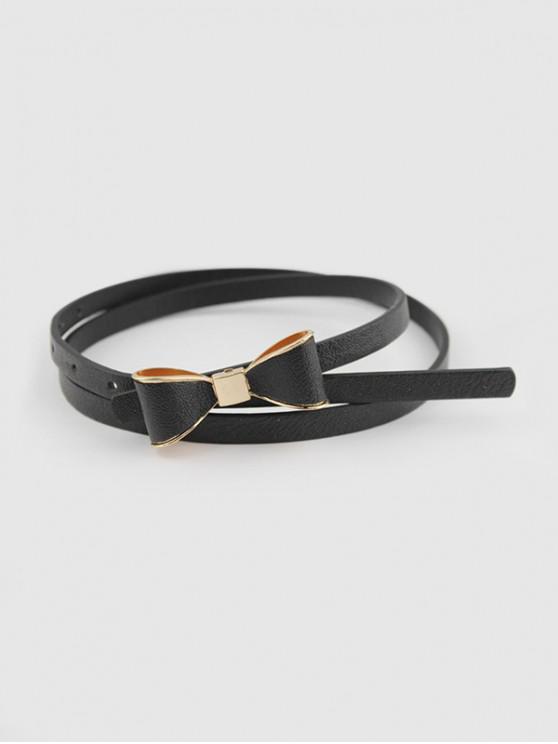 Bowknot Decorative Waist Belt - أسود