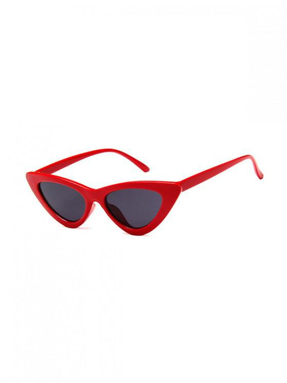 trendy Outdoor Anti UV Triangle Sunglasses - RED