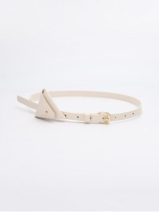 outfits Mini Triangle Bag Waist Belt - WHITE