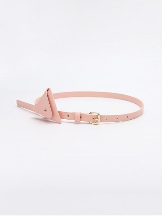 Mini Triangle Bag Waist Belt - وردي فاتح