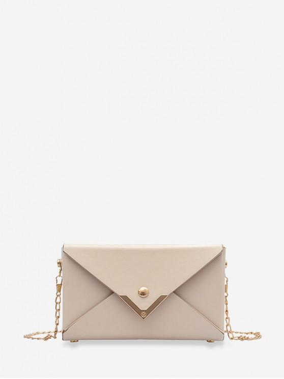 unique Rectangle Chain Envelope Bag - WHITE
