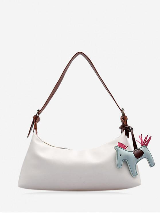 unique Cartoon Horse Pendant Handbag - WHITE
