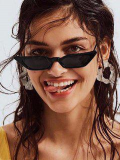 アンチUV不規則な狭いサングラス - 黒
