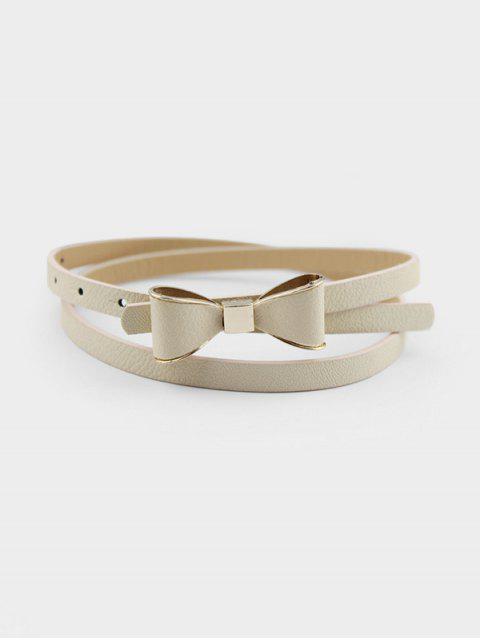 chic Bowknot Decorative Waist Belt - LIGHT YELLOW  Mobile