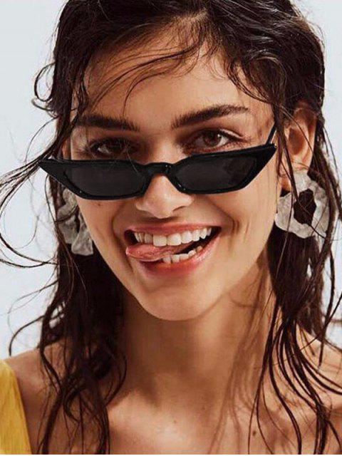 chic Anti UV Irregular Narrow Sunglasses - BLACK  Mobile
