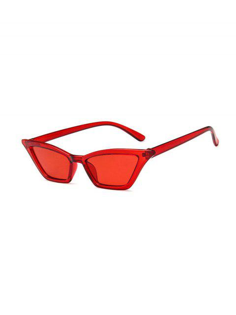 fashion Anti UV Irregular Narrow Sunglasses - RED  Mobile