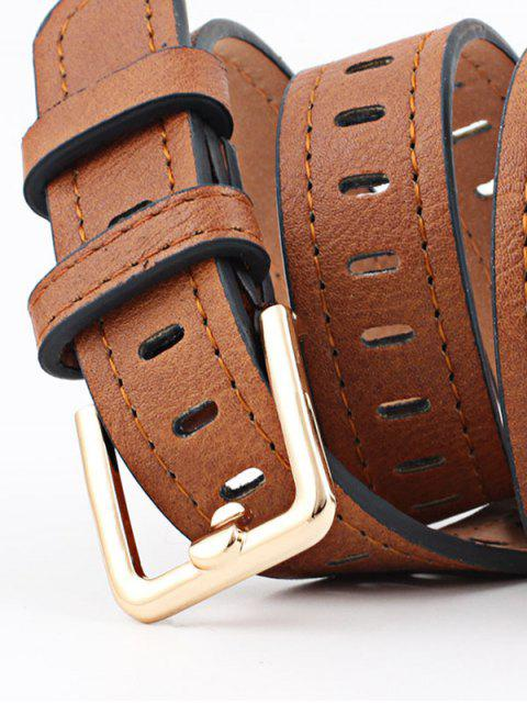 chic Alloy Buckle PU Leather Belt - COFFEE  Mobile