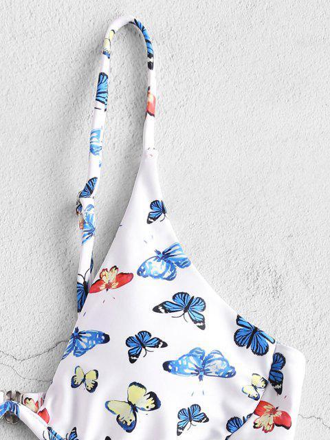ZAFUL Bügel Bikini Badebekleidung mit Schmetterlingsmuster - Hellblau S Mobile