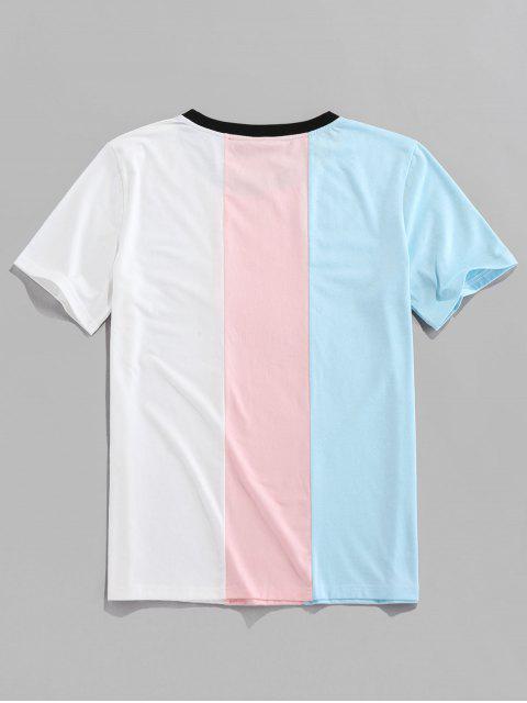 ZAFUL Camiseta Suelto con Estampado de Letras - Azul claro XL Mobile