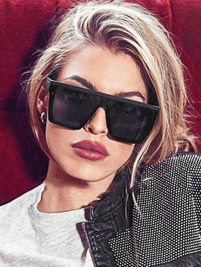 Retro Oversized Square Sunglasses - Black