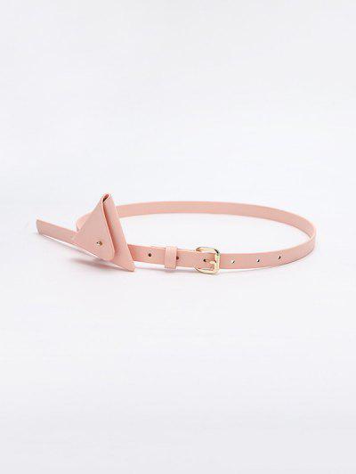 Mini Bolsa De Cintura De Triângulo Com Cinto - Rosa Claro