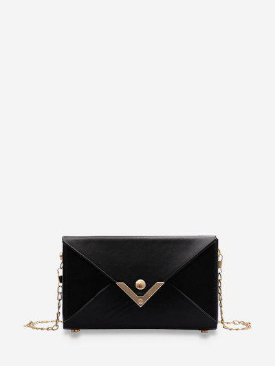 Rectangle Chain Envelope Bag - Black