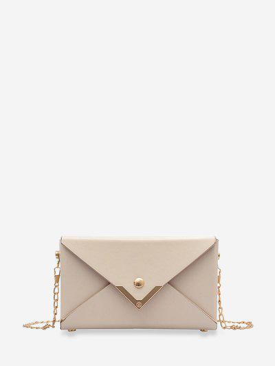 Rectangle Chain Envelope Bag - White
