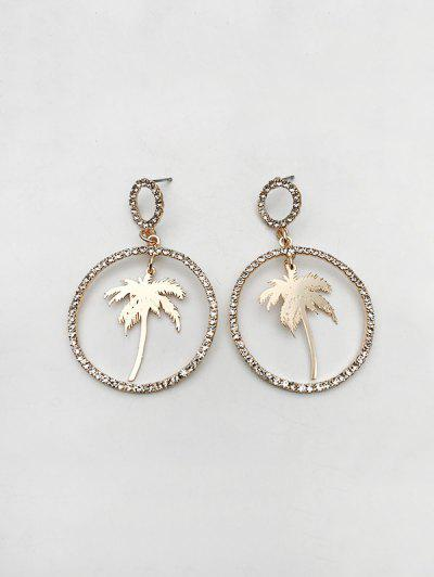 Coconut Tree Circle Shape Drop Earrings