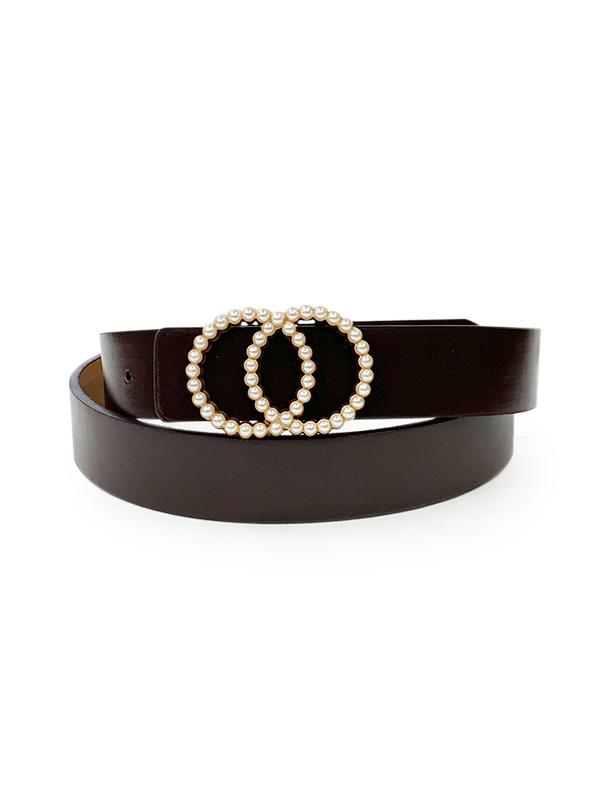 Double Circle Faux Pearl Belt