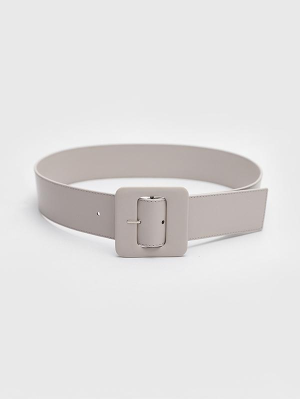 Square Pin Buckle Wide Belt