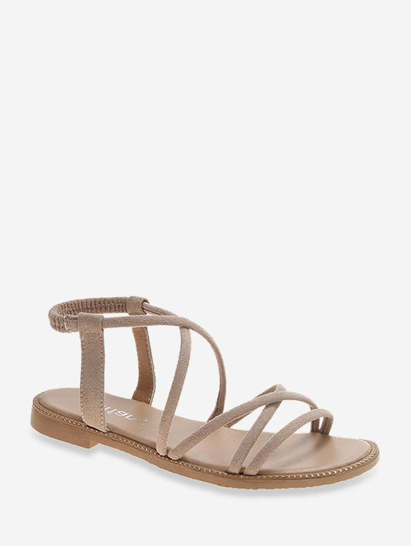 Criss-cross Suede Summer Sandals