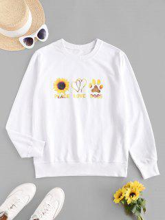 Sweat-shirt Graphique Tournesol - Blanc Xl