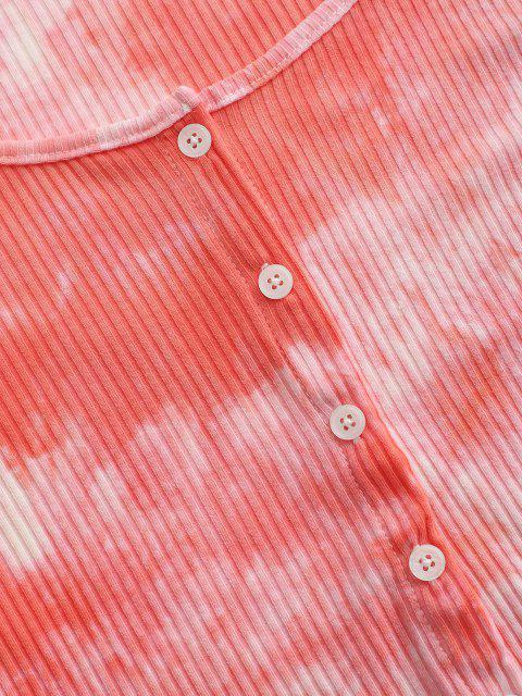 Haut Court Boutonné Côtelé Teinté - Rose clair XL Mobile