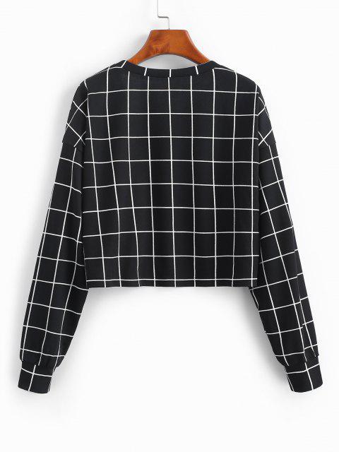 ZAFUL Sweat-shirt à Carreaux Imprimé - Noir XL Mobile